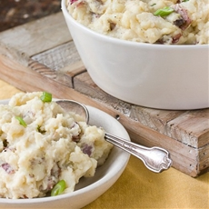 Smashed Potatoes with Gouda and Horseradish