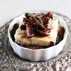 Roasted Feta Cheese with Fig
