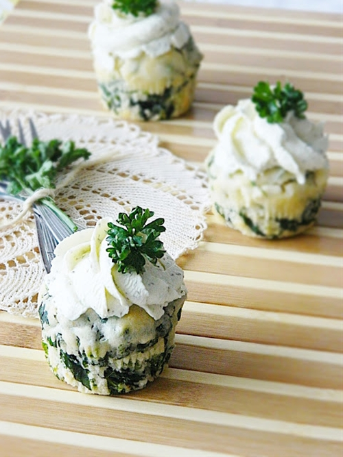 Spinach-Feta Muffins