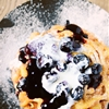 Orange and Blueberry Funnel Cakes