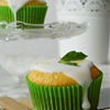 Lemon-Yogurt Cupcakes with sugar glaze