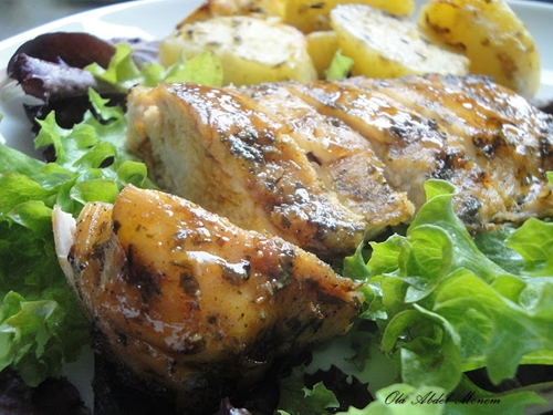 Roasted chicken breast fillet