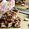 Popcorn-Chocolate Bars. Popcorn-Schokostangen