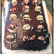 Tombstone Halloween Cake