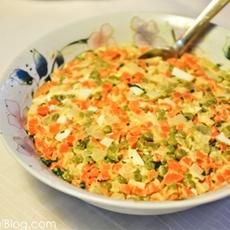 Cooked veggie and egg salad (polish holiday salad)