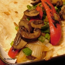 Grilled sirloin pepper wrap