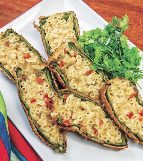 Mac and Cheese Chile Rellenos