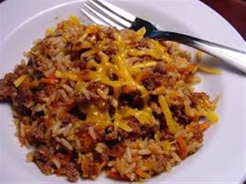 Beef and rice casserole recipe
