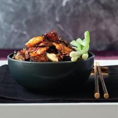 Eggplant Chicken in Garlic Sauce