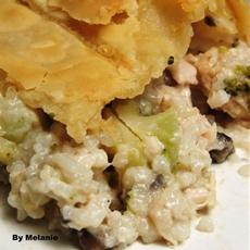 Rice Broccoli Pot Pie