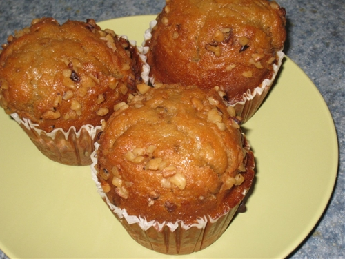 Spiced Pumpkin Nut Muffins