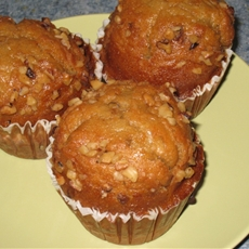 Spiced Pumpkin Nut Muffins