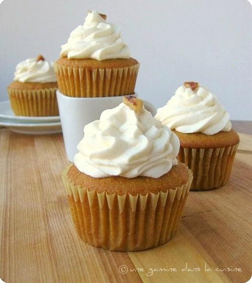 Brown Butter, Butternut Squash Cupcakes