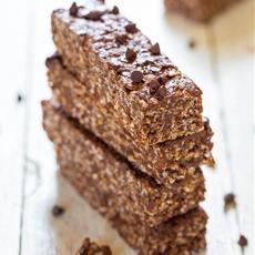 No-Bake Double Chocolate Peanut Butter Granola Bars(vegan,gluten-free)