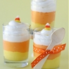 Candy Corn Cheesecake Mousse
