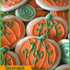 Sugar Pumpkin Cookies