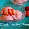 Healthy Strawberry Frozen Yogurt