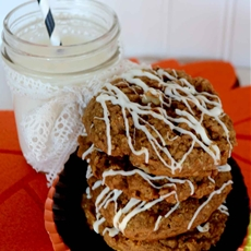 Oatmeal pumpkin white chocolate cookies