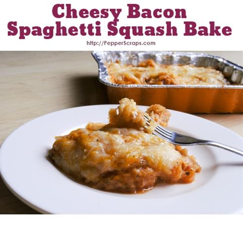 Cheesy Bacon Spaghetti Squash Bake