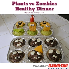 Plants Vs Zombies Healthy Dinner | Pepper Scraps