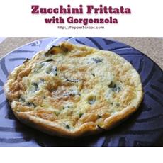 Zucchini frittata with gorgonzola
