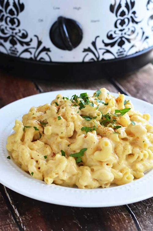 Three Cheese Crock Pot Macaroni and Cheese