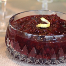 Cranberry and Dried-Cherry Relish