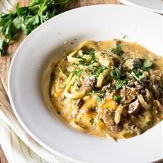 Zucchini Pasta with Creamy Mushroom Marsala