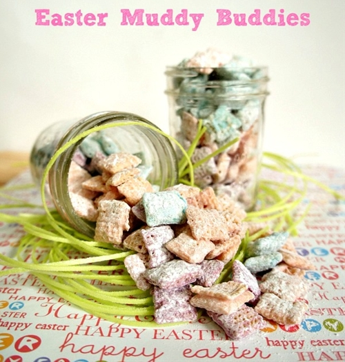 A Colorful Easter Muddy Buddies Mix Recipe
