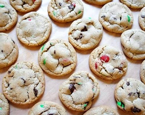Christmas M&Ms Cookies Recipe