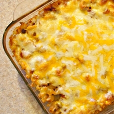 Chili Mac & Cheese Casserole