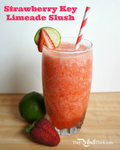 Strawberry key limeade slush