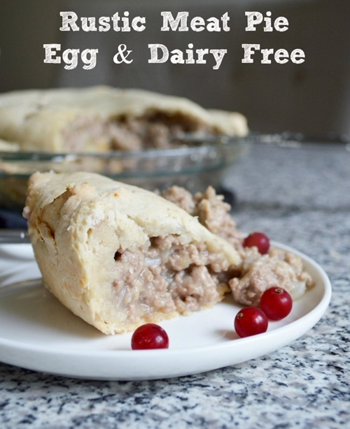 Dairy & Egg-Free Rustic Meat Pie