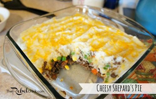Cheesy Easy Shepherds Pie