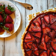 Summertime Strawberry Tart