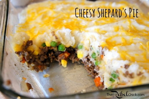 Cheesy Easy Shepards Pie