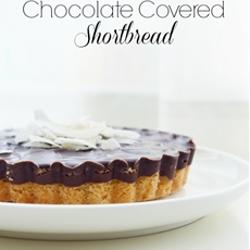 Chocolate Covered Coconut Shortbread