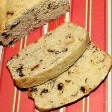 Recipes Using Eggnog: Cranberry Almond Eggnog Bread