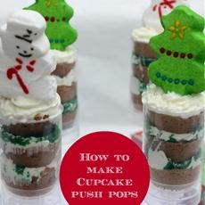 How to Make Cupcake Push Pops