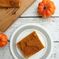 Paleo Pumpkin Bars with Coconut Flour
