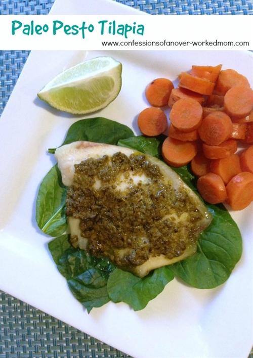 Paleo Pesto Tilapia Recipe