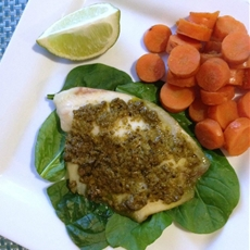 Paleo Pesto Tilapia Recipe