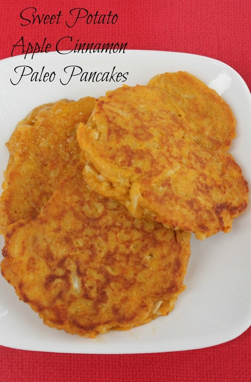 Paleo Pancake Recipe - Sweet Potato Apple Cinnamon Pancakes