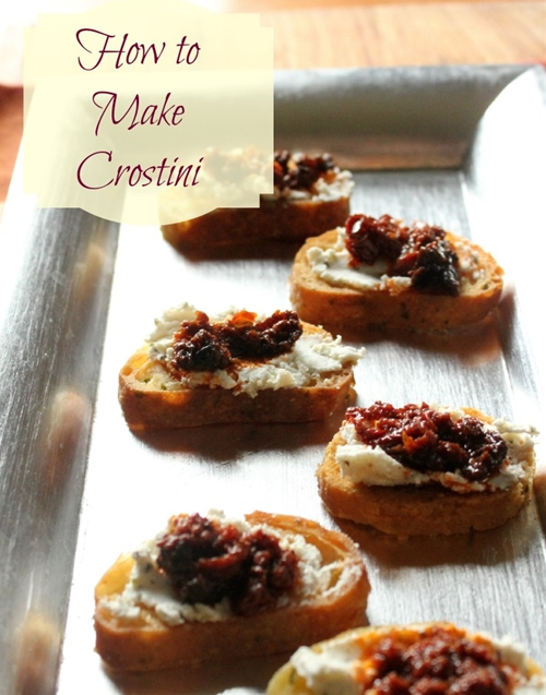 How to Make Crostini for your Holiday Parties