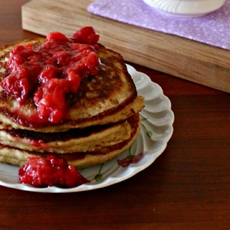 Strawberry Paleo Pancake