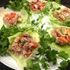 Tuna ceviche lettuce wraps with