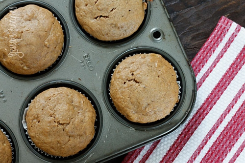 Low Fat Peanut Butter Banana Muffins
