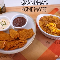 Baked Chicken Fingers & Homemade Mac and Cheese