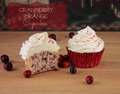 Cranberry Orange Cupcakes With White Chocolate Ganache