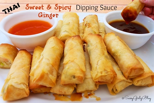 Sweet & Spicy Thai Ginger Spring Roll Dipping Sauce